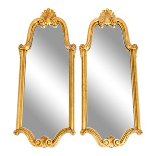 Late 19th Century Giltwood Frame Hanging Wall Mirrors - a Pair For Sale