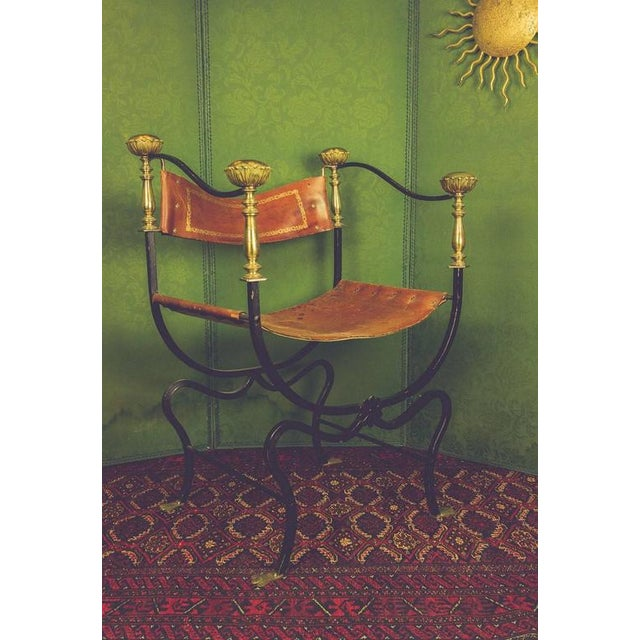 20th Century Italian Iron Campaign Chair For Sale - Image 10 of 11