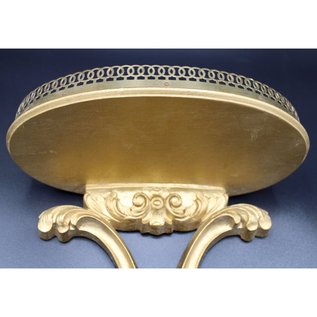 Italian Florentine Golden Gilt Wooden Wall Shelf With Gallery (Available Pair) For Sale - Image 10 of 13