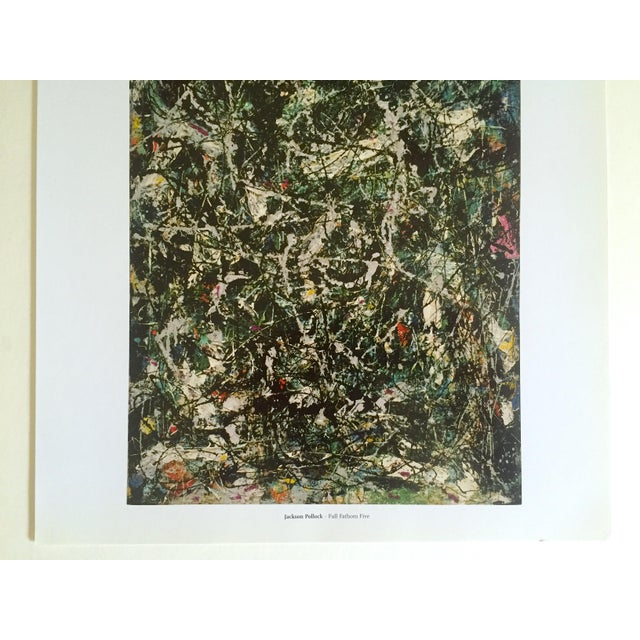 """Abstract Jackson Pollock Foundation Abstract Expressionist Collector's Lithograph Print """" Full Fathom Five """" 1947 For Sale - Image 3 of 12"""
