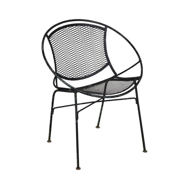 "Salterini Vintage 1960's Wrought Iron ""Radar"" Patio Lounge Chair For Sale - Image 13 of 13"