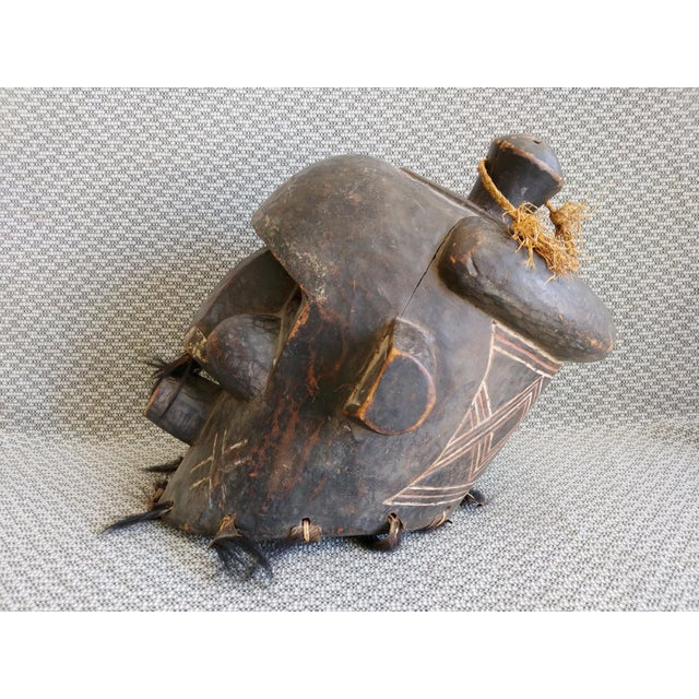 Early 20th Century African Carved Wood Full Head Mask For Sale In Palm Springs - Image 6 of 11