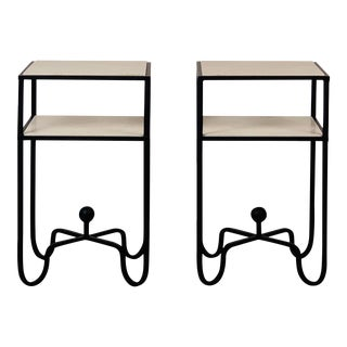 Design Frères 2-Tier Entretoise Side Tables - a Pair For Sale