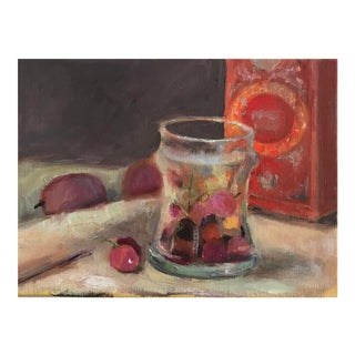 1990s Still Life With Fruit Painting For Sale