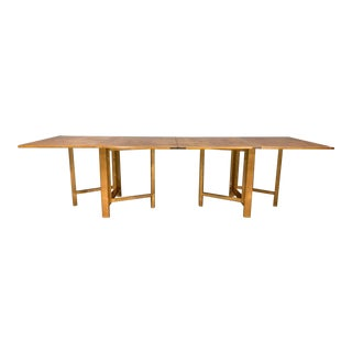 Flamed Birch Maria Folding Dining Table by Bruno Mathsson for Karl Mathsson For Sale