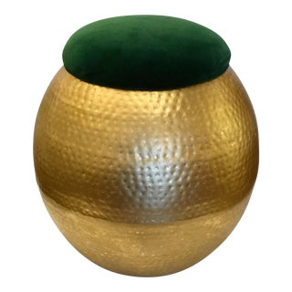 Modern Worlds Away Tabouret Gold Stool