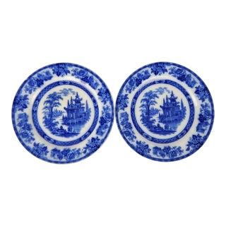 """Antique """"Madras"""" Doulton Burslem Plates, Pair For Sale"""
