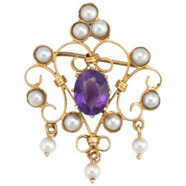 Image of Amethyst Brooches