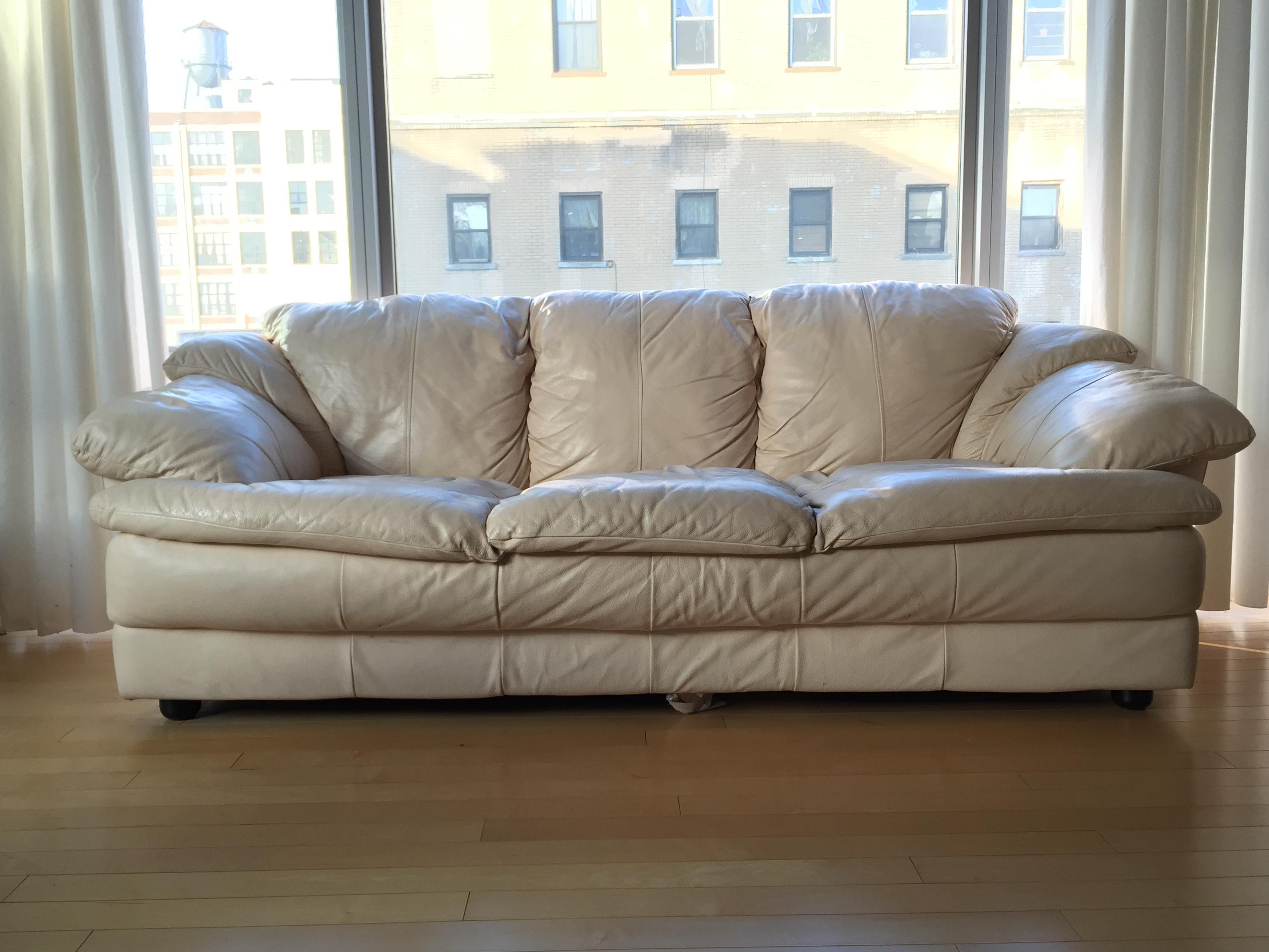 Natuzzi Italian Leather Sofa   Image 2 Of 11