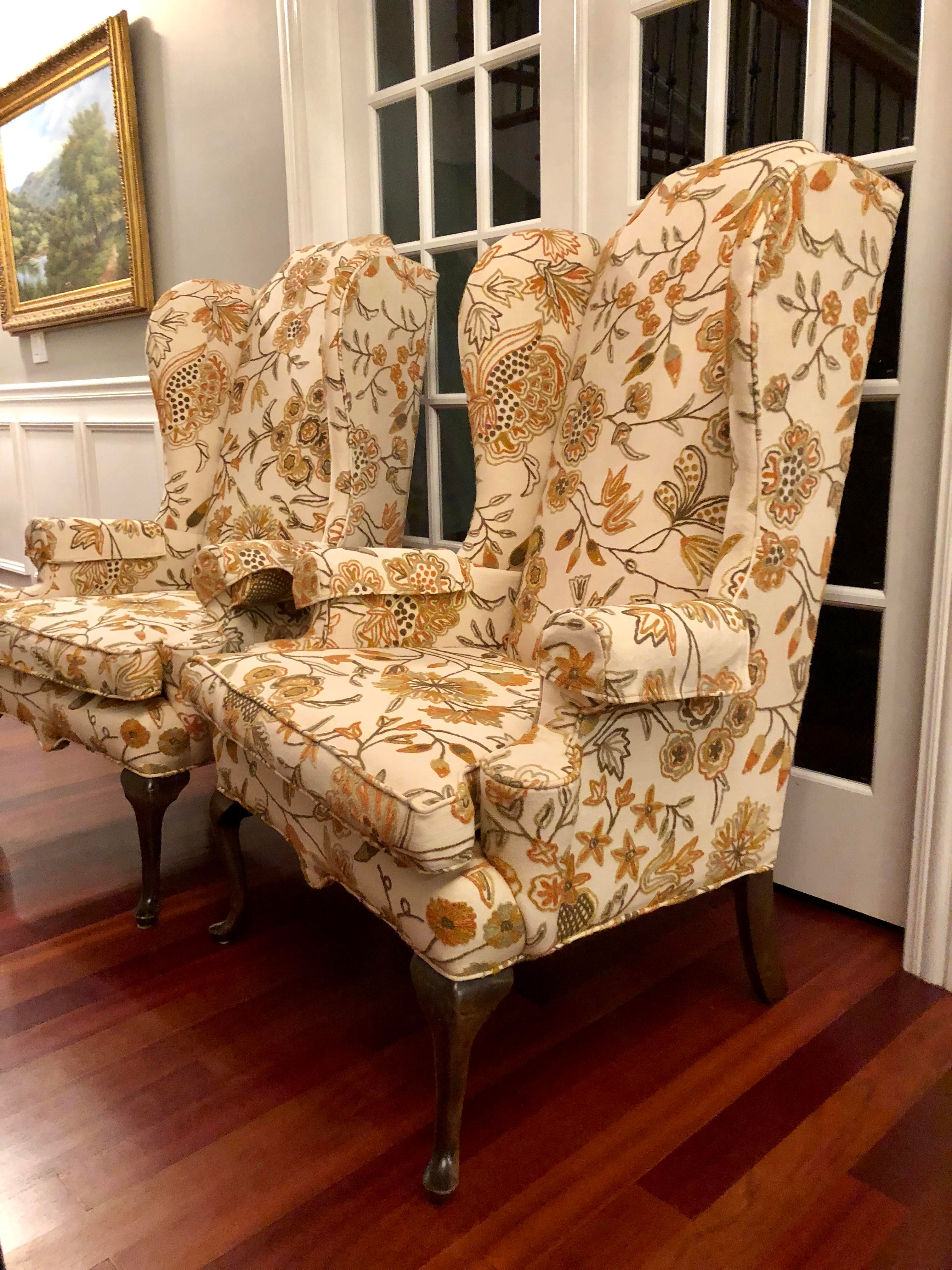 Gentil Ethan Allen Ethan Allen Wingback Chairs   A Pair For Sale   Image 4 Of 12