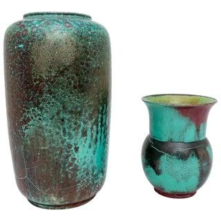 Glazed Pottery Vases by Richard Uhlemeyer, 1940s - Set of 2 For Sale