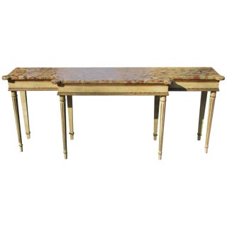 20th Century French Style Marble-Top of Console Sofa Table For Sale