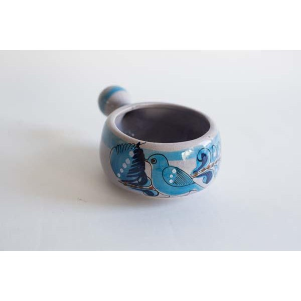 Small blue Mexican serving bowl