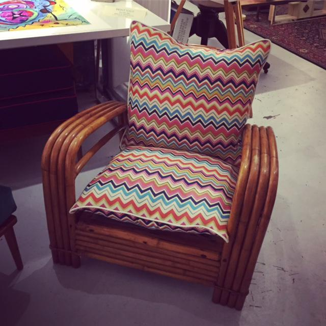 Mid-Century J.B. Van Sciver Co Lounge Rattan Chair For Sale In New York - Image 6 of 6