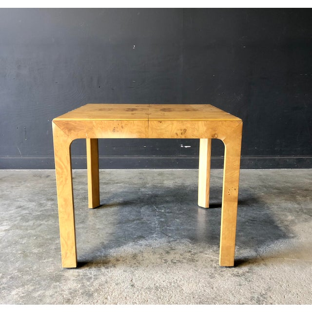 Modern Milo Baughman Parsons Dining Table For Sale - Image 3 of 9