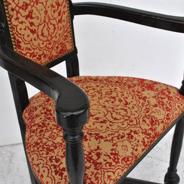 Wood Pair of Louis XIII Style Ebonized Stools by Dennis and Leen For Sale - Image 7 of 11