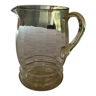 Yellow Glass Pitcher For Sale