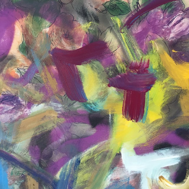 Abstract Erik Sulander Contemporary Acrylic & Oil Painting For Sale - Image 3 of 6