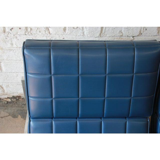 Chrome 1970s Vintage Chromcraft Milo Baughman Style Three-Seat Sofa For Sale - Image 7 of 11