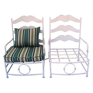 Vintage Provencal Armchairs - Pair For Sale