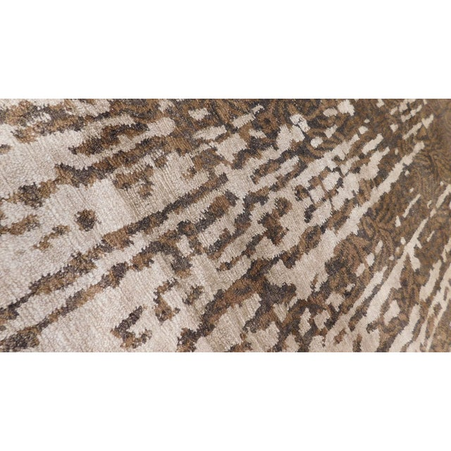 """Cotton Contemporary Hand-Knotted Luxury Rug - 8' x 10'2"""" For Sale - Image 7 of 10"""