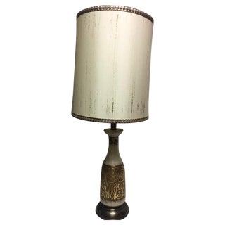Retro Ceramic Lamp & Artemis Shade For Sale