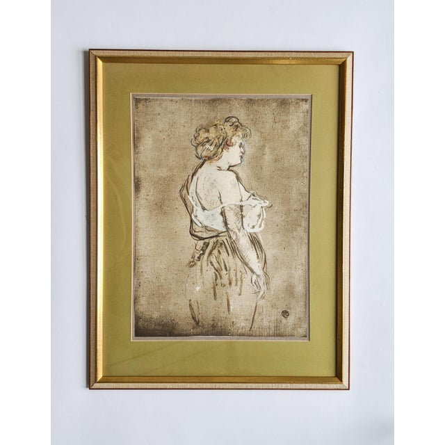 French Women Portrait Prints of 19th Century Artworks by Painter and Artist, Henri De Toulouse-Lautrec. Lot of 4 For Sale - Image 12 of 13