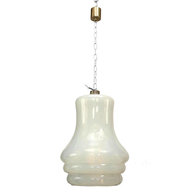 Italian Italian Venetian Murano Opalescent Glass Lantern For Sale - Image 3 of 3