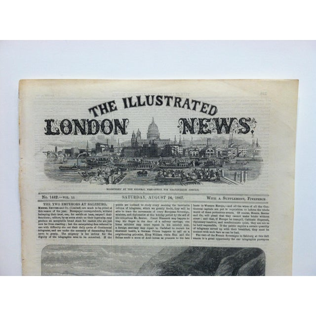 "This is an Antique Original Print from The Illustrated London News that is titled ""Scene of the Accident at Bray Head"" and..."