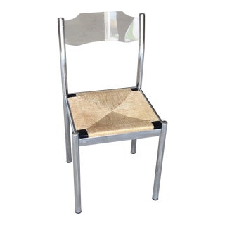 1980s Modern Accent Lucite and Chrome Chair For Sale