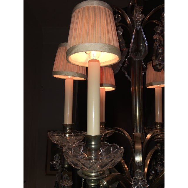 Metal Vintage Hart Crystal Arm Chandelier For Sale - Image 7 of 11