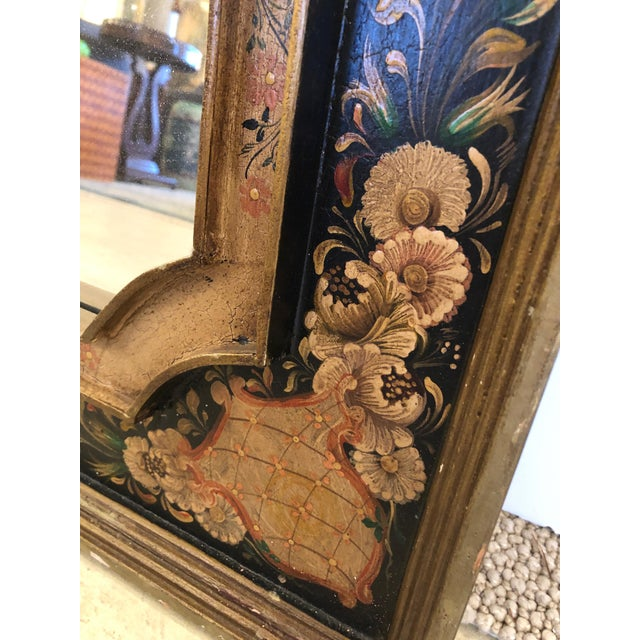 Venetian Hand Painted Rectangular Mirror For Sale - Image 4 of 10