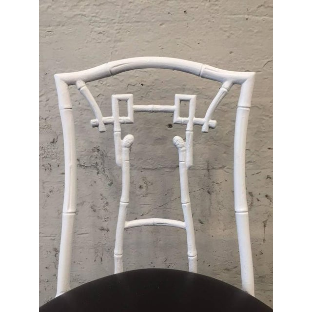 1960s Pair of Asian Style Faux Bamboo Side Chairs For Sale - Image 5 of 8