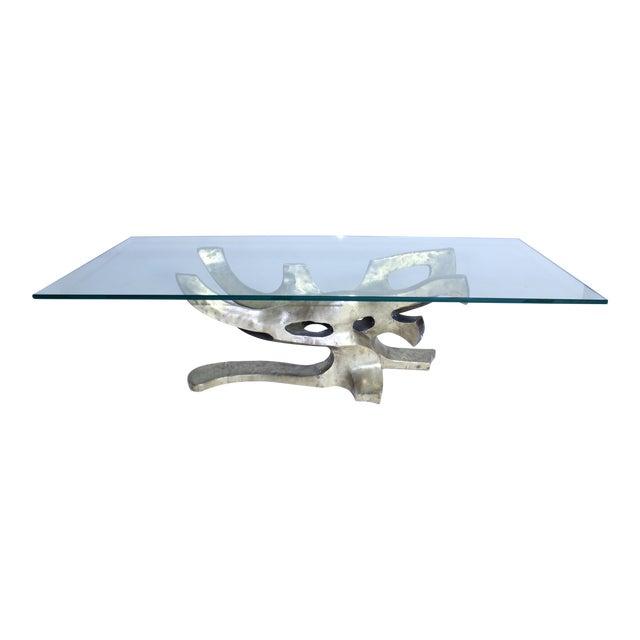 Sculptural Bronze Table Base For Sale