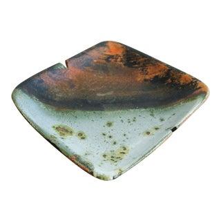 Vintage Marcello Fantoni Ceramic Lava Glaze Ashtray For Sale