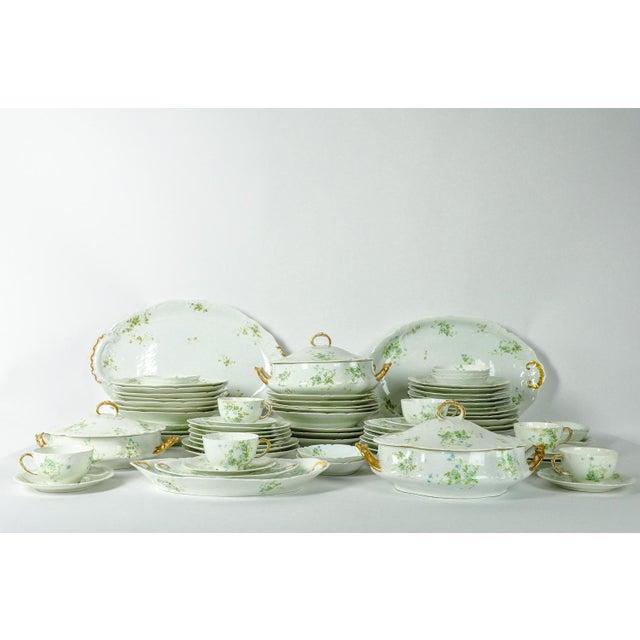 France Limoges Porcelain Dinner Service - 73 Pieces For Sale In New York - Image 6 of 6