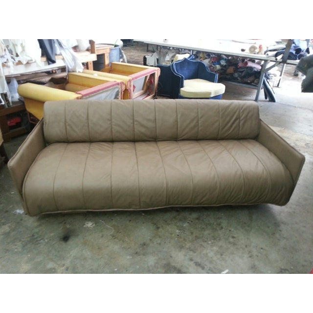 1986 Mid-Century Modern De Sede Leather Sofa For Sale - Image 9 of 12