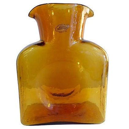 Blenko Handcrafted Amber Color Vase - Image 1 of 4
