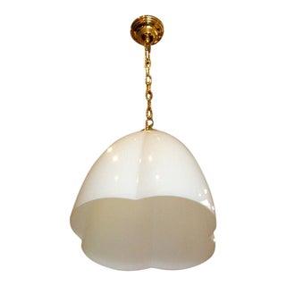 Italian Stilnovo Style Glass Clover Pendant Light