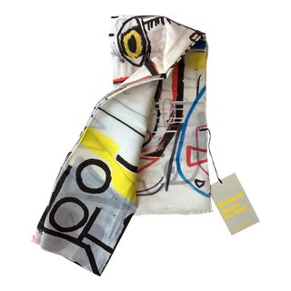 Jean-Michel Basquiat Silk Scarf For Sale
