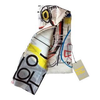 Jean-Michel Basquiat Silk Scarf For Sale