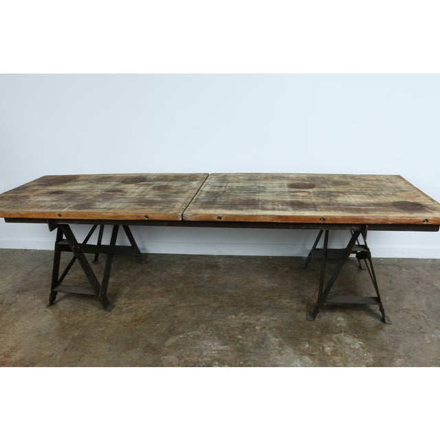 Vintage Industrial Table - Image 3 of 11