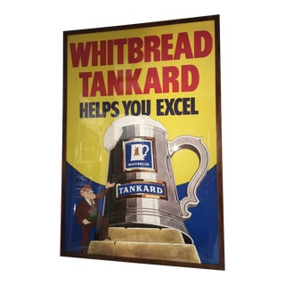 Original English Whitbred Tankard Ales Poster For Sale