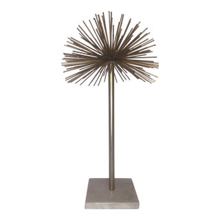 1960s Mid-Century Atomic Age Brass Sculpture For Sale