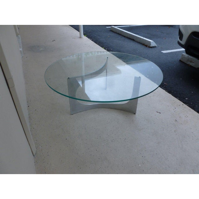 Knut Hesterberg Mid Century Modern Aluminum Sculptural Table by Knut Hesterberg by Bacher Tische For Sale - Image 4 of 11