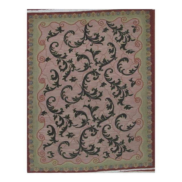 Soumak Design Hand Woven Wool Rug - 8' X 10' - Image 1 of 6