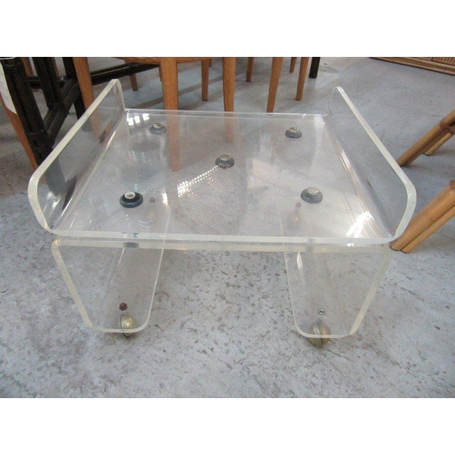 Pagoda Lucite Bench Stool - Image 5 of 6