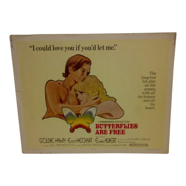 """1972 Vintage Movie Poster of """"Butterflies Are Free"""" For Sale"""