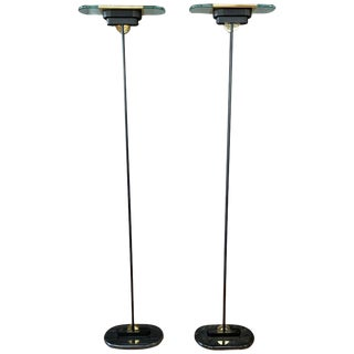 Pair of Robert Sonneman for Kovacs Postmodern Torchiere Floor Lamps, 1980s For Sale