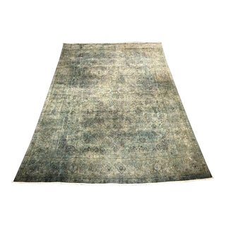 "Bellwether Rugs ""Zaher"" Vintage Distressed Tabriz Rug - 11'7"" X 8' For Sale"